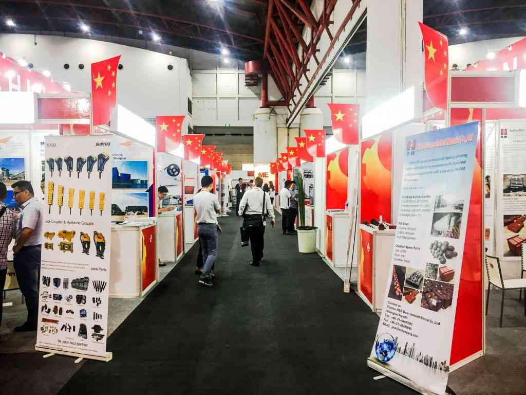 The China Pavilion showcasing logistics and supply chain services from the country