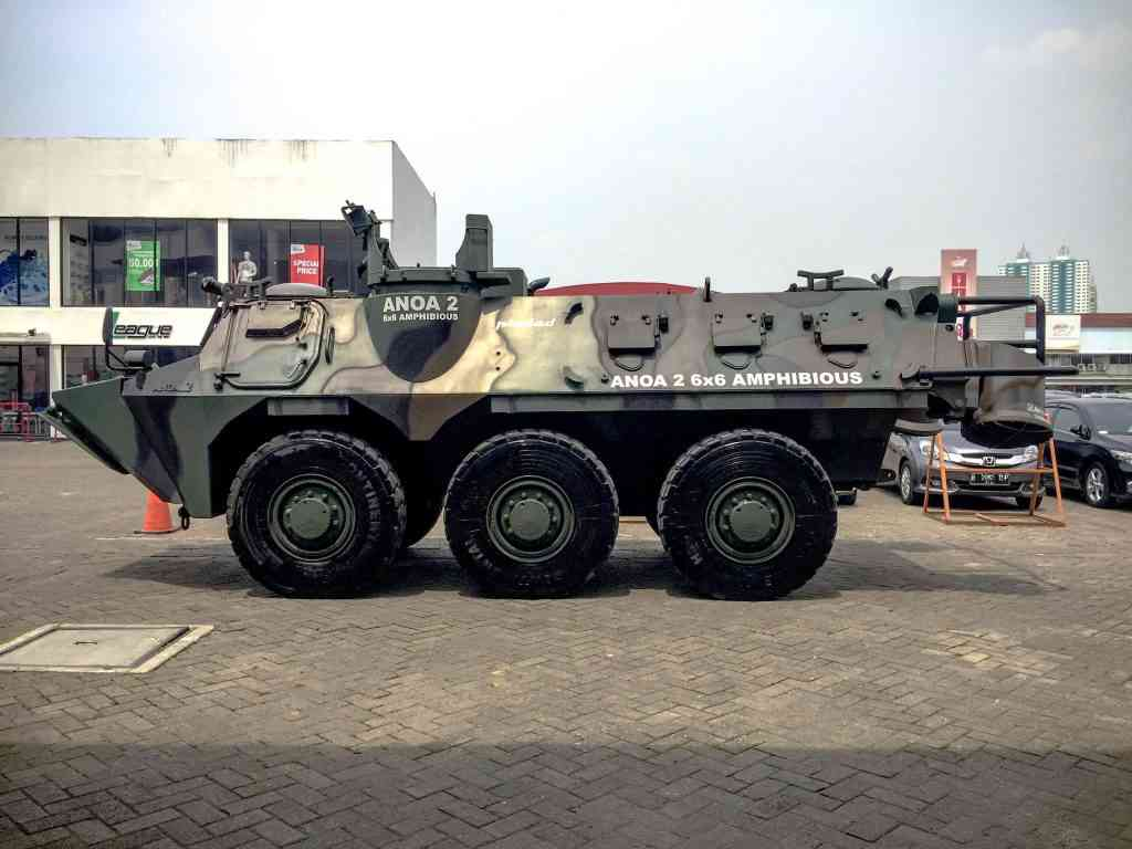 Indonesia's very own Pindad Anoa Armored Personnel Carrier (APC)